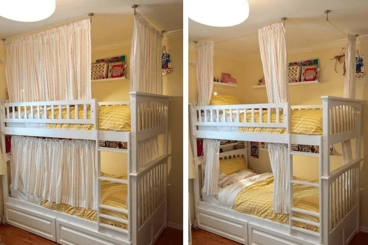 Lightweight And Breathable Bunk Bed Curtains IKEA Hackers