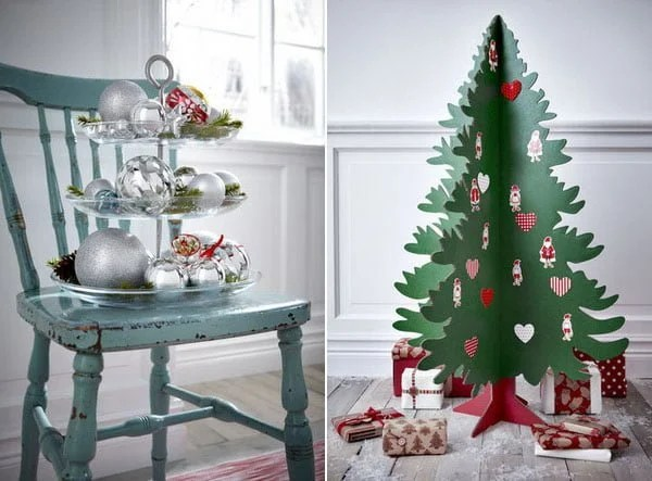 ikea christmas collection cardboard tree and tree globes