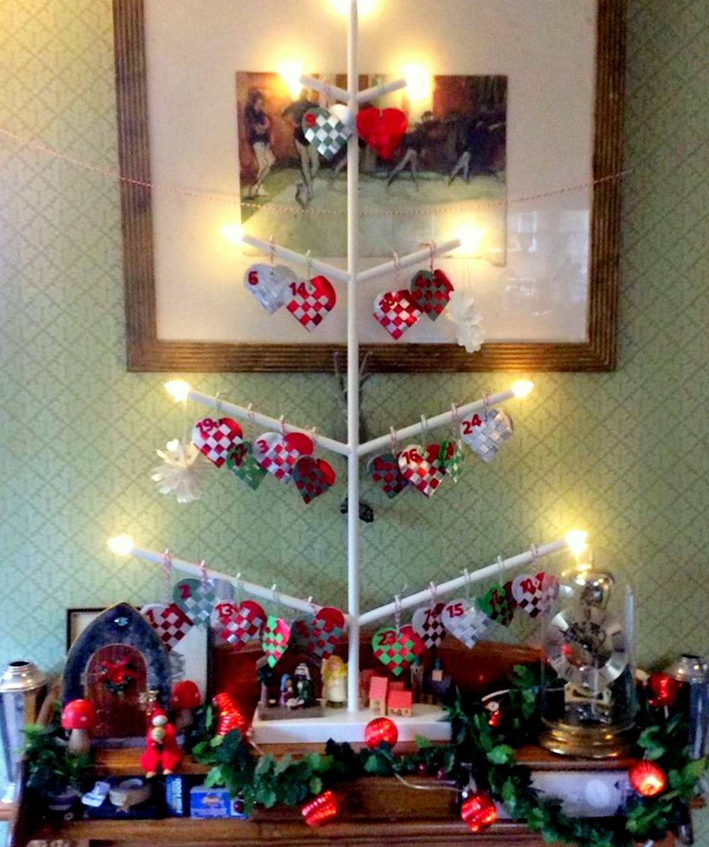 Christmas advent candelabra