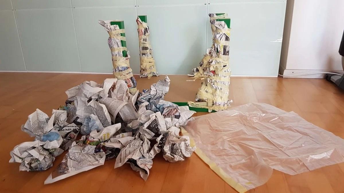 Paper Mache Scuplture -- Furry Friends coffee tables