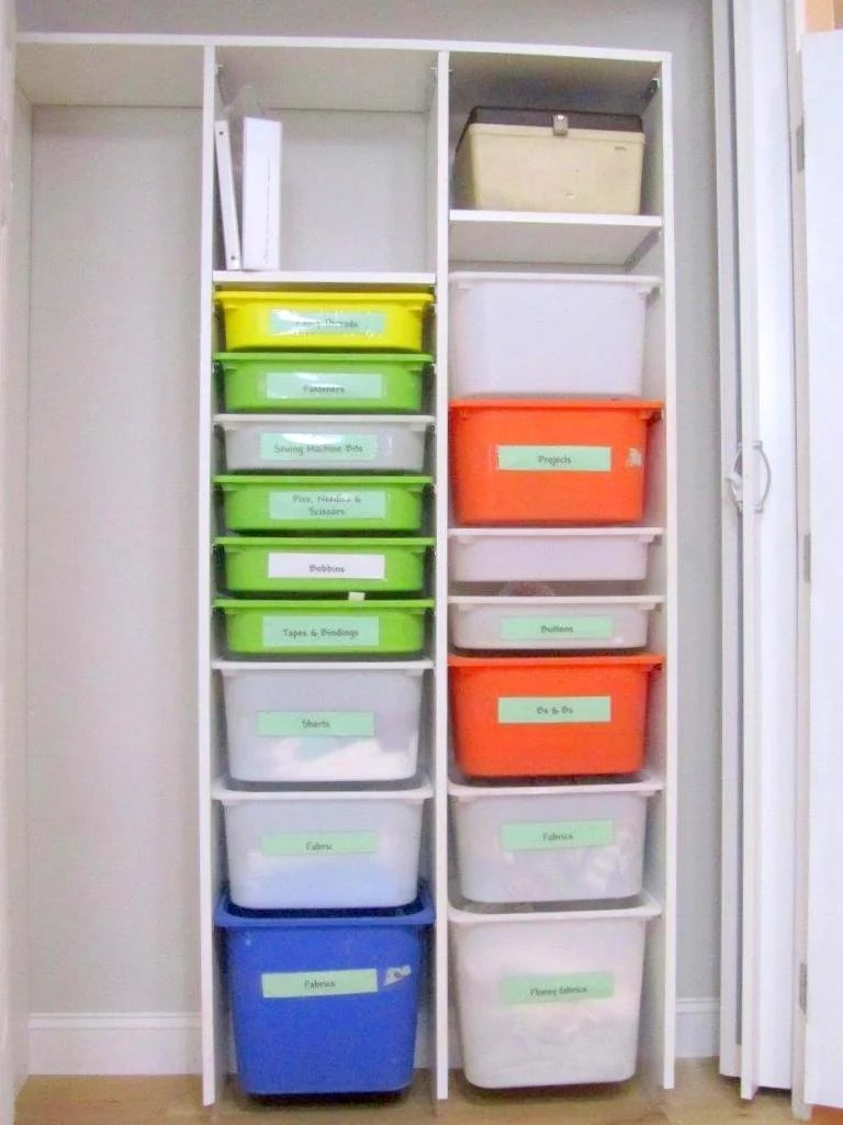 TROFAST IKEA Storage Boxes Used In A Built In