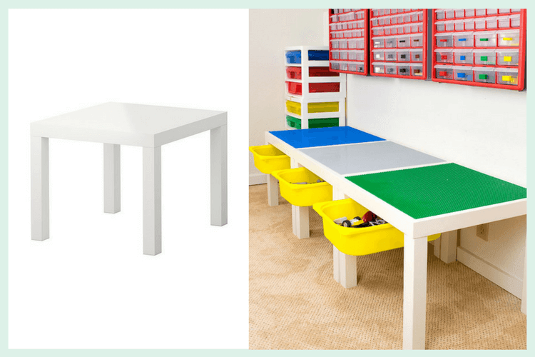 Lego Play Table With Drawer Storage Ikea Hackers
