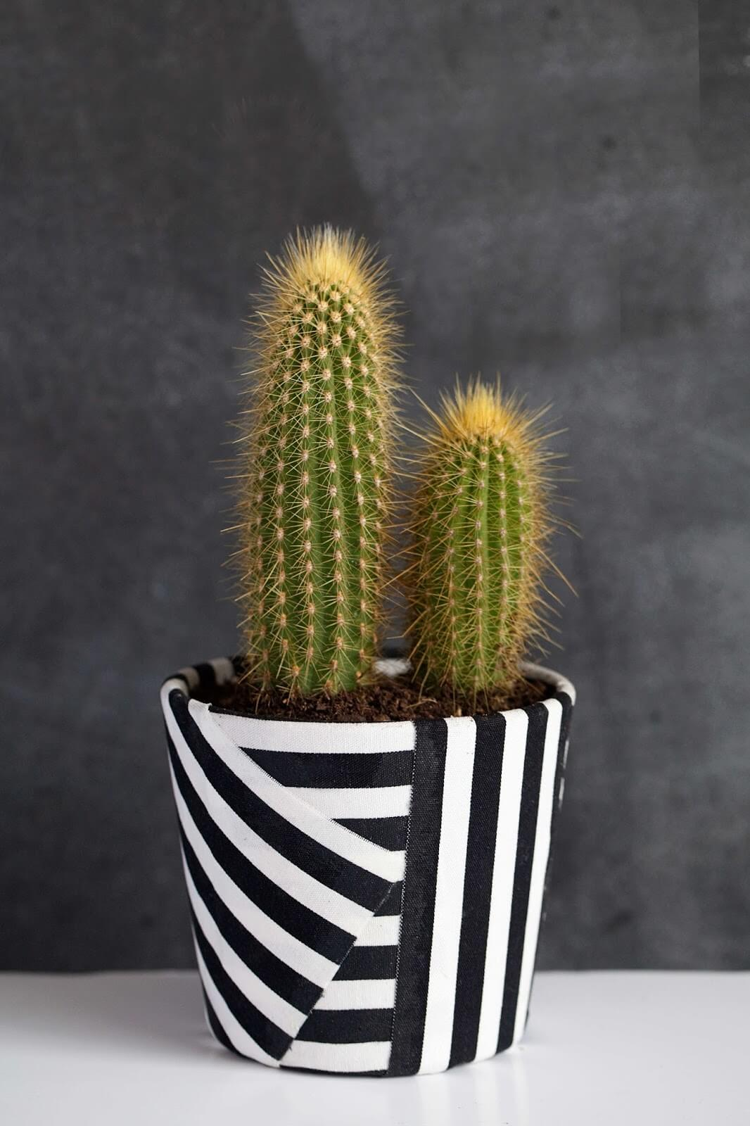 12 IKEA Hacks to Try in 2018 - fabric wrapped plant pot