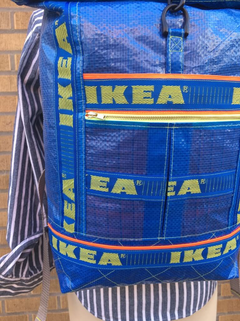 A Roll-Top Backpack from IKEA Blue Bags