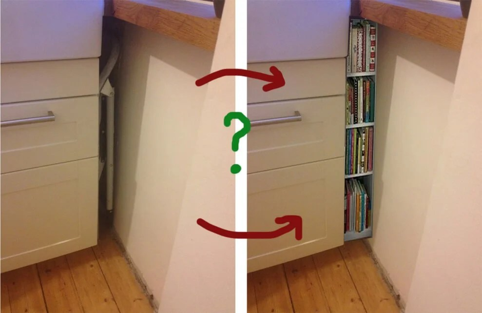 Hackers Help Filling A Gap Between Kitchen Cabinets And Wall