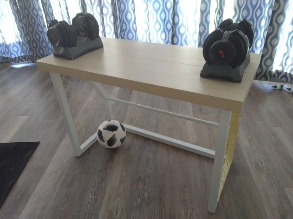 Soccer Inspired Goal Post desk