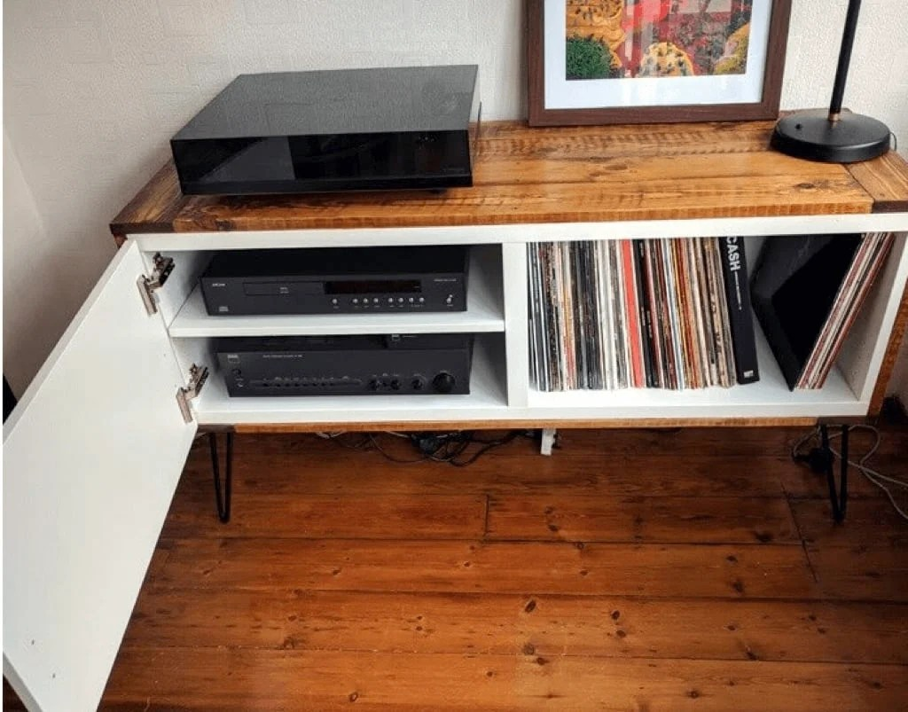 Record Player Console In Vintage Scandinavian Style Ikea