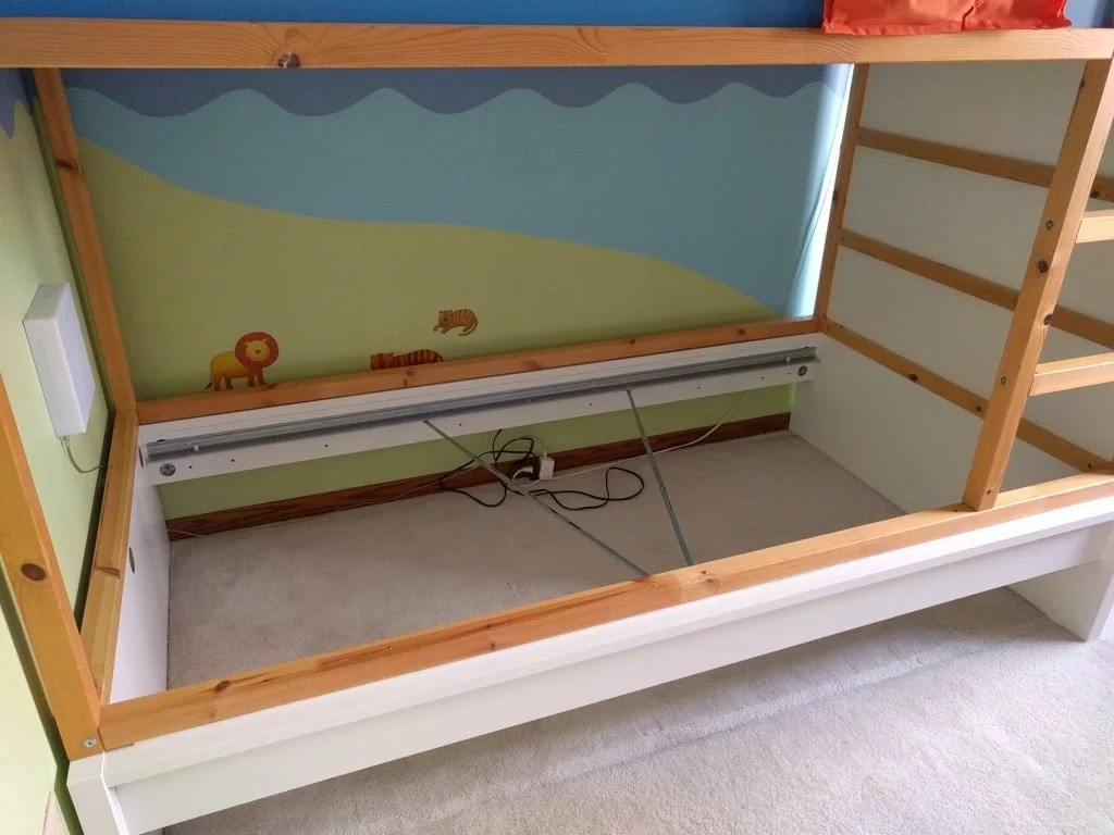 Storage bunk bed using KURA and MALM