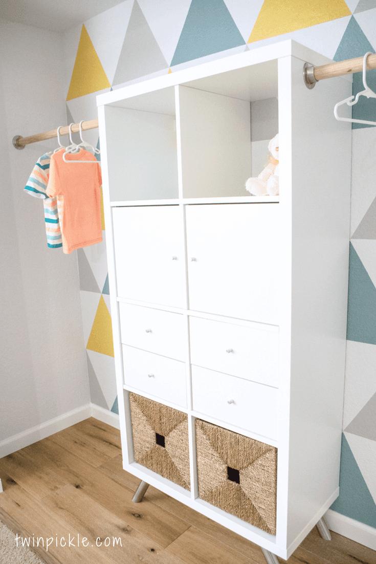 Twin boys custom closet -- an IKEA KALLAX hack