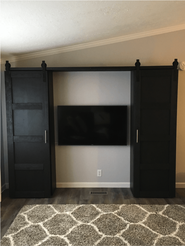 Barn doors to close up an entertainment center ikea hackers for What time does ikea close