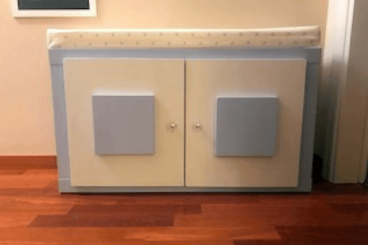 Narrow Hallway Bench Made From Two Tv Units Ikea Hackers