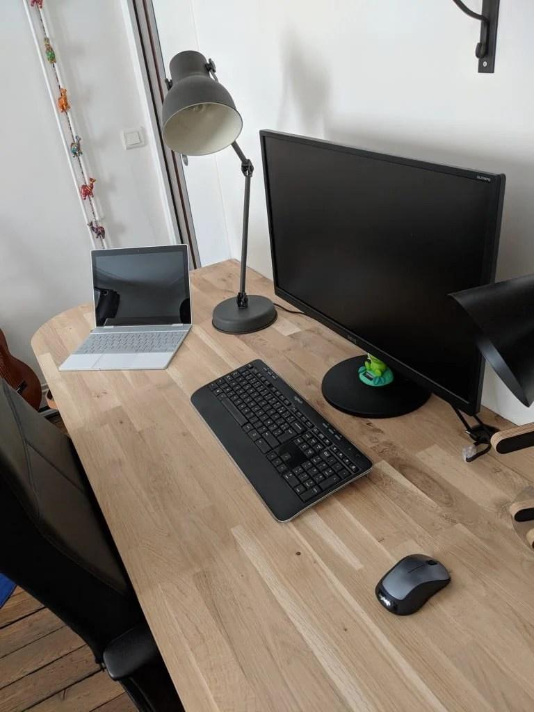 Industrial style desk IKEA hack