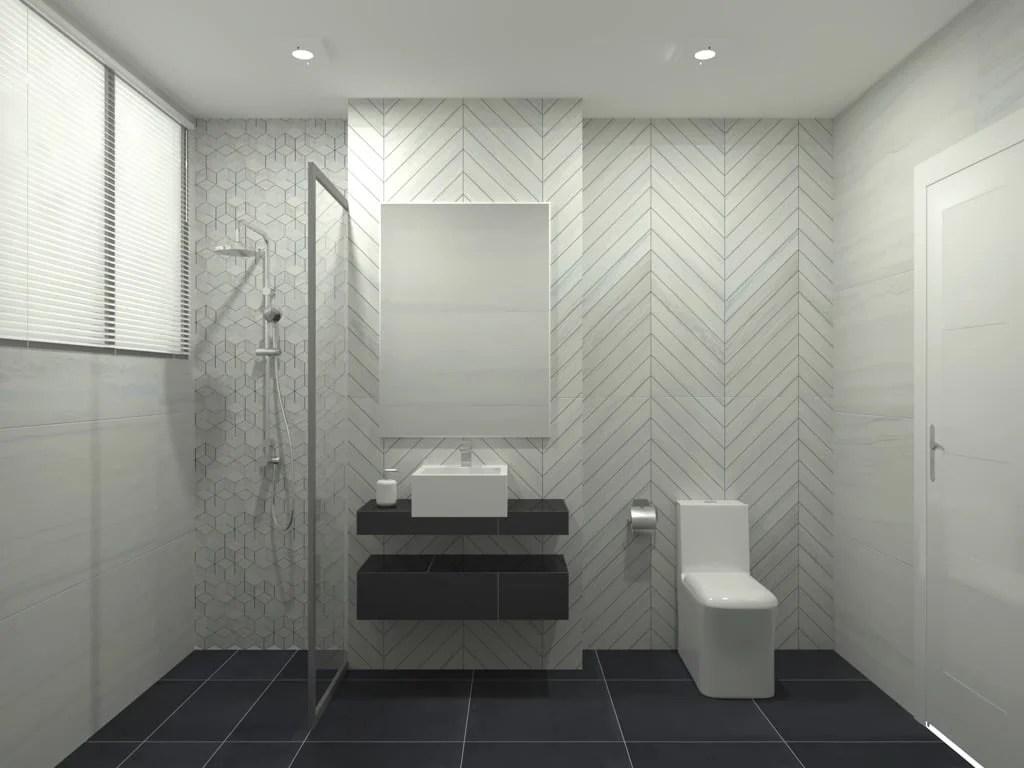Feruni bathroom tiles - Marmo 3.0
