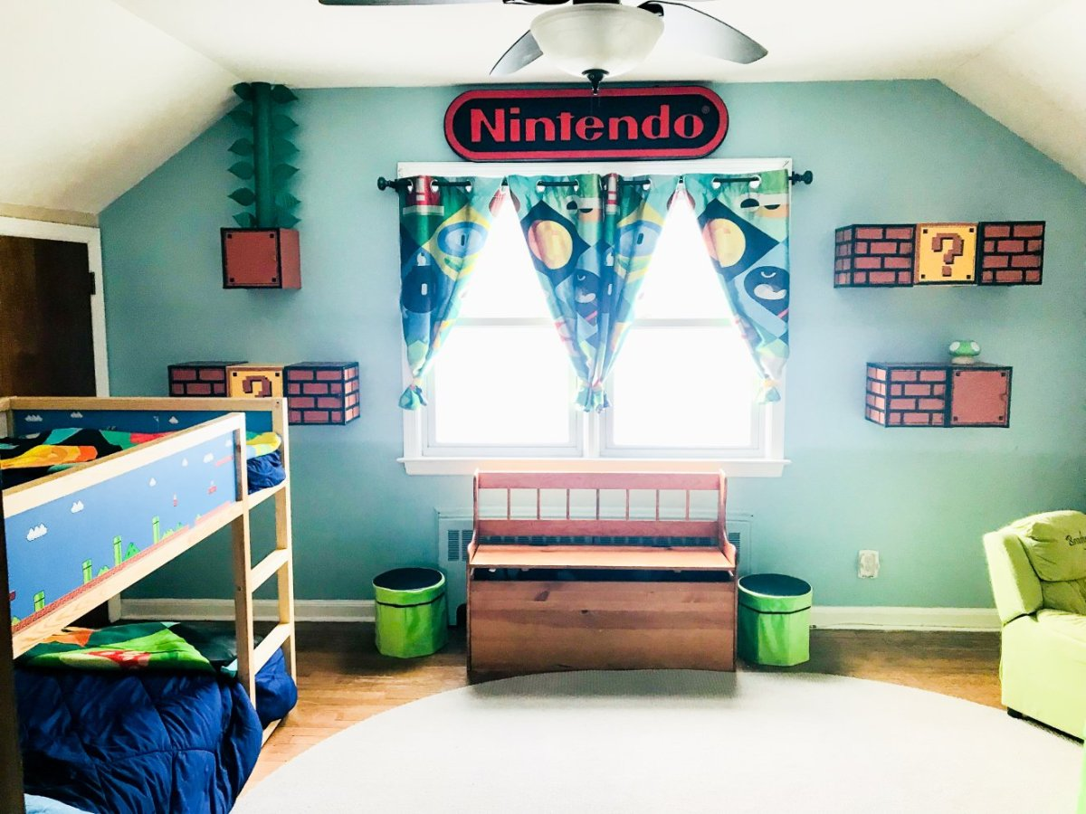 Nintendo Cabinet for a Nintendo Room Makeover