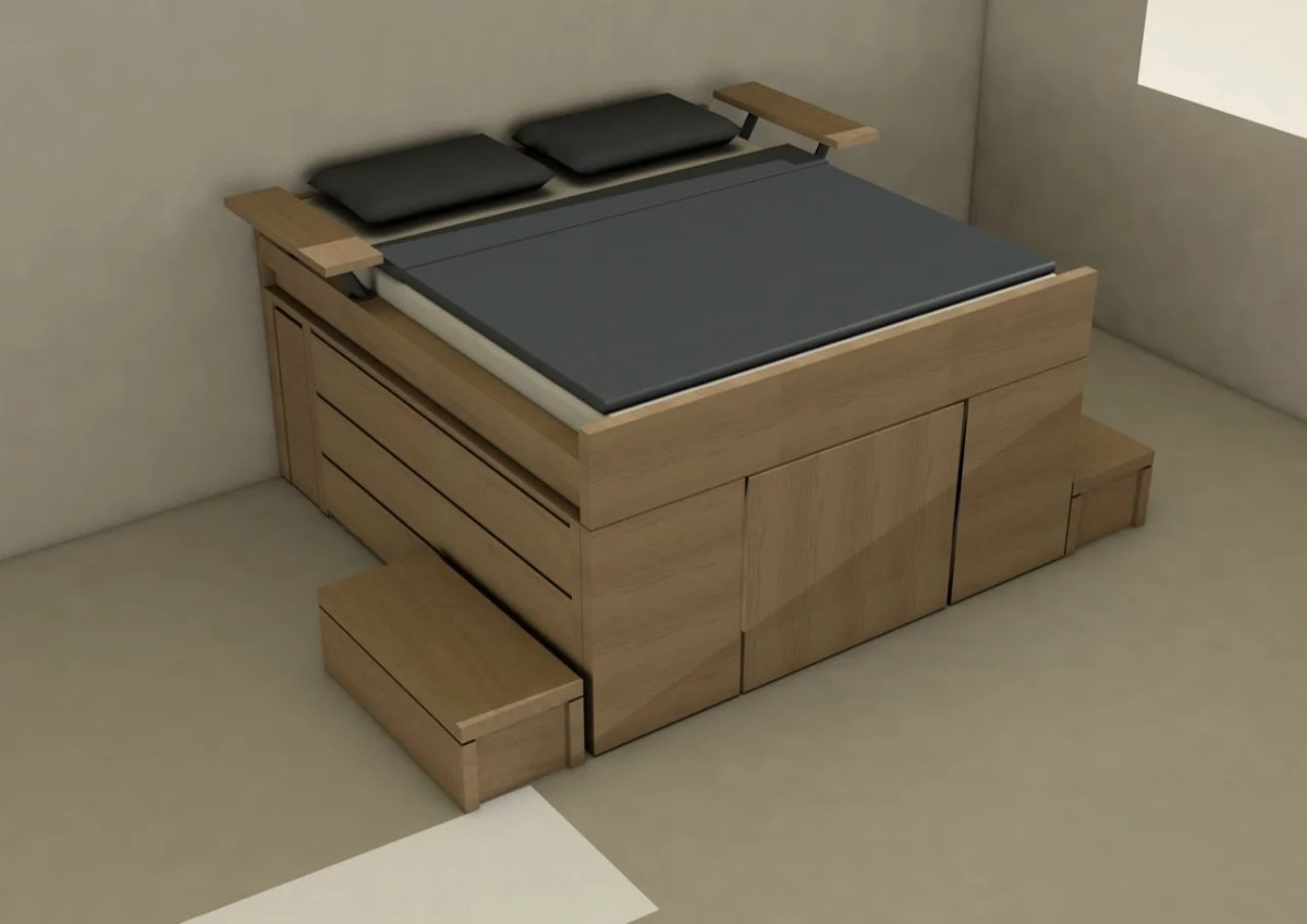 Storage bed that's roomy enough for your entire wardrobe