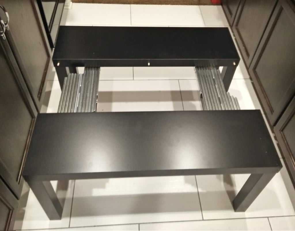 IKEA TV Unit to Expanding Board Game Table