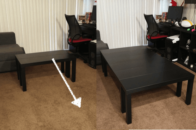 Board Game Table Made From Tv Units And It S Extendable
