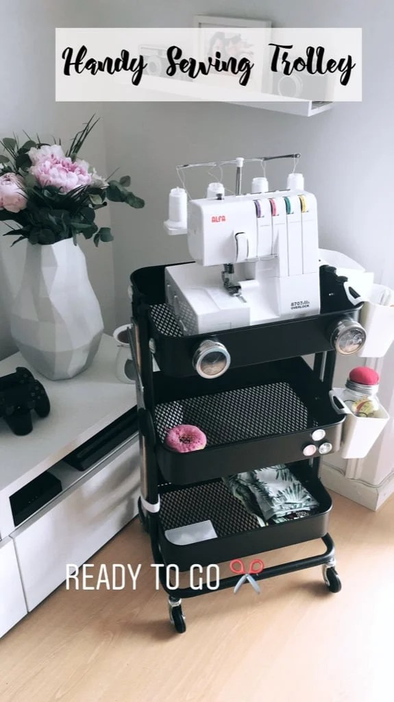 Handy Sewing Trolley – RÅSKOG cart hack
