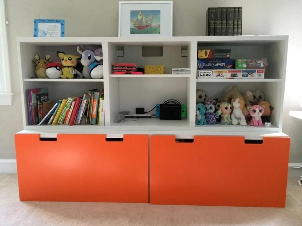 Childrens Kids 3 Tier Toy Bedroom Storage Shelf Unit 8: Toy Storage System For Messy Toy Room
