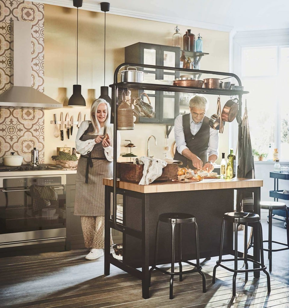 Ikea Ilot Cuisine: Vadholma Kitchen Island-11