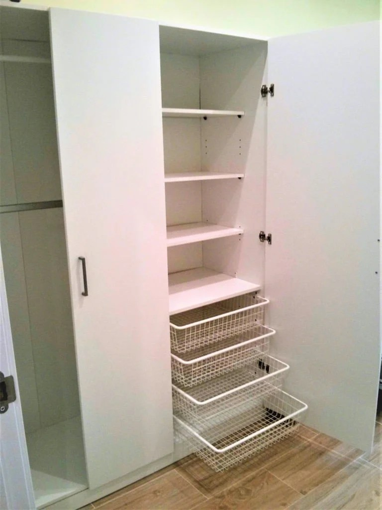 Dombås wardrobe: How to add more shelves and drawers