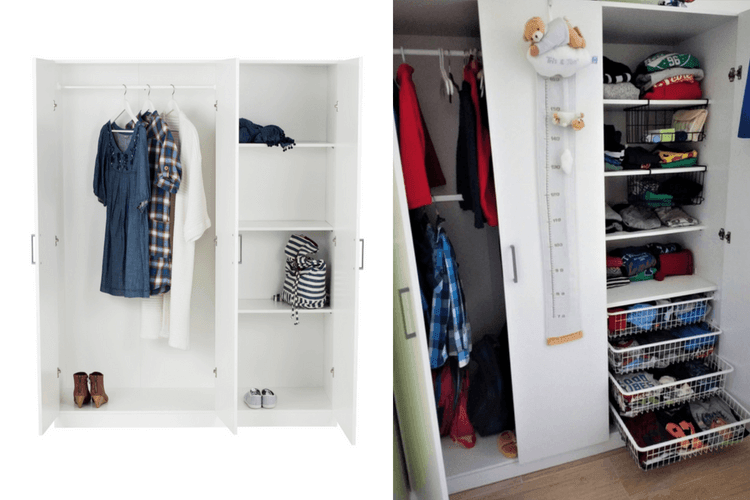 domb s wardrobe how to add more shelves and drawers ikea hackers. Black Bedroom Furniture Sets. Home Design Ideas