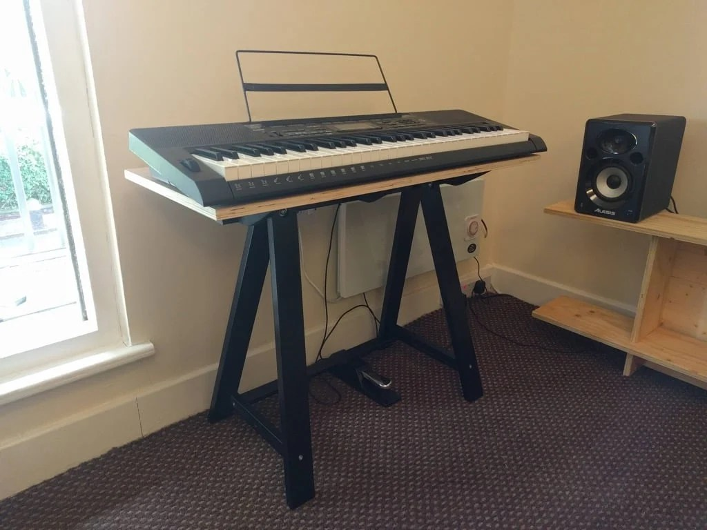 Single Oddvald Keyboard Stand Or Side Table Ikea Hackers