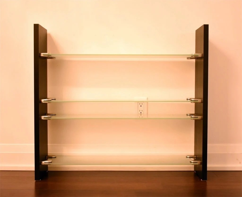 Glass shelving unit / bookcase... made out of shelves