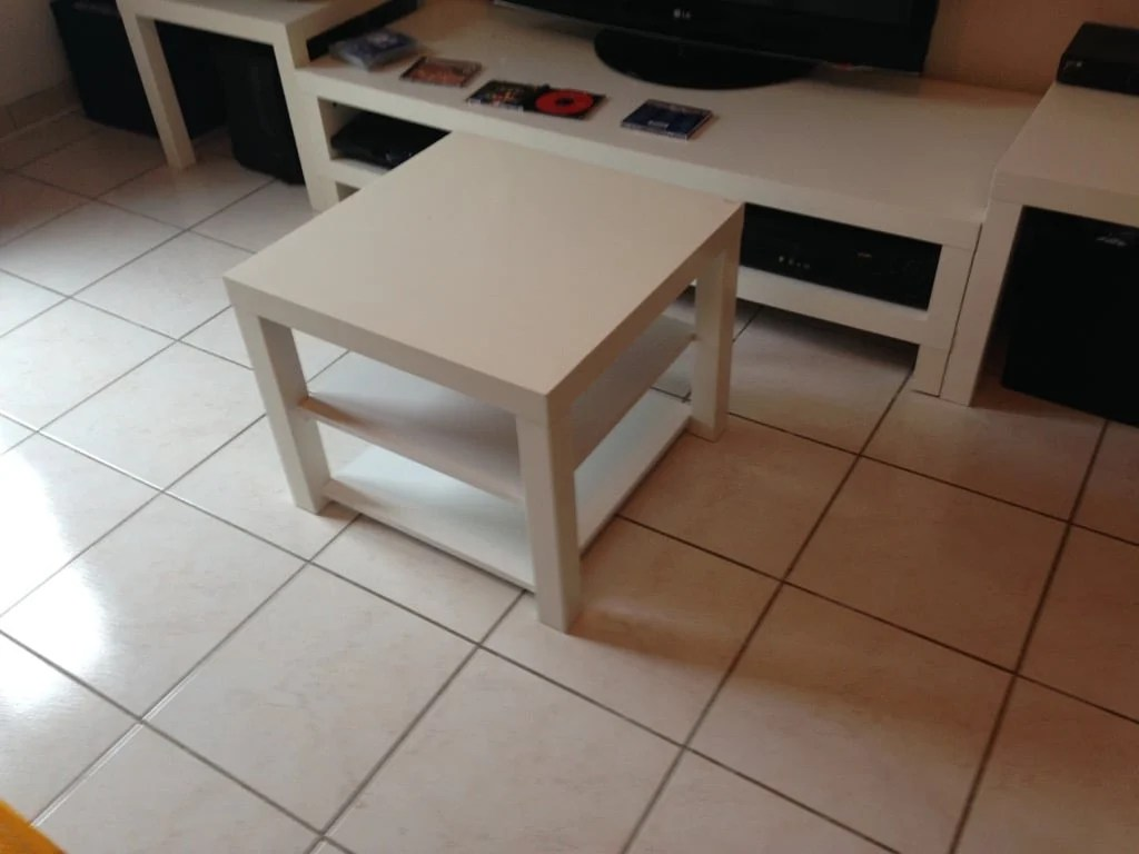 IKEA TV stand + the LACK range extension that IKEA didn't produce