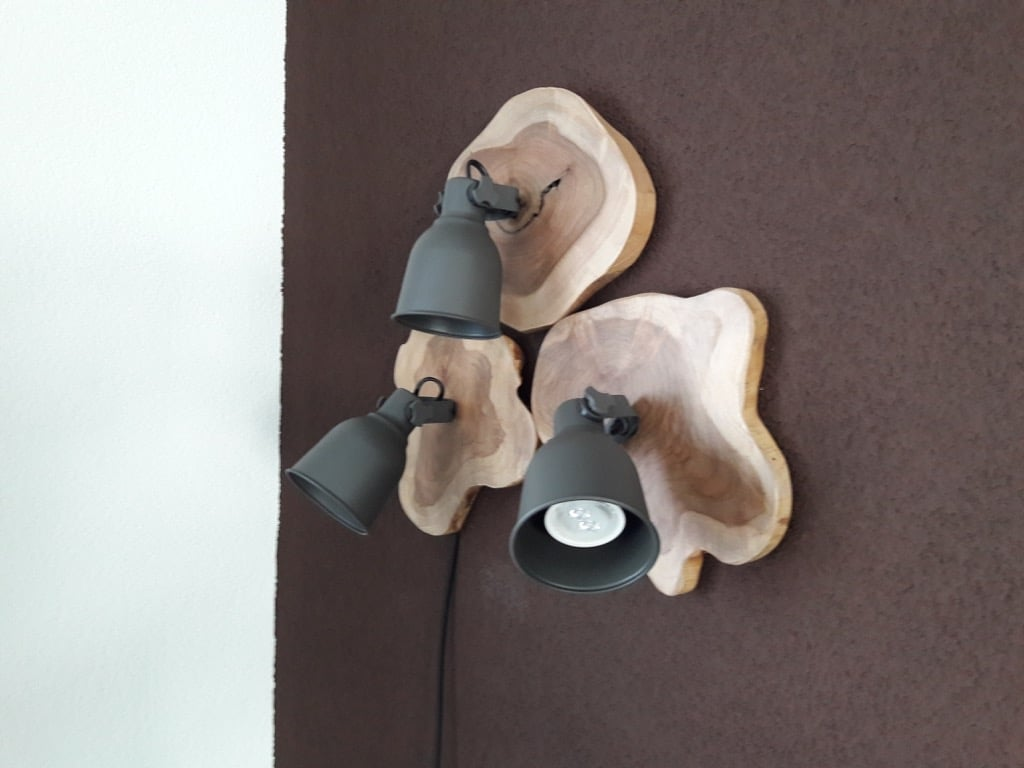 Wood and Steel HEKTAR wall lamp