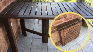 Folding Outdoor Table: PPLAR Switcheroo IKEA Hackers