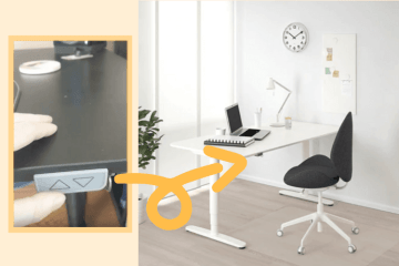 ikea sit stand desk memory positions