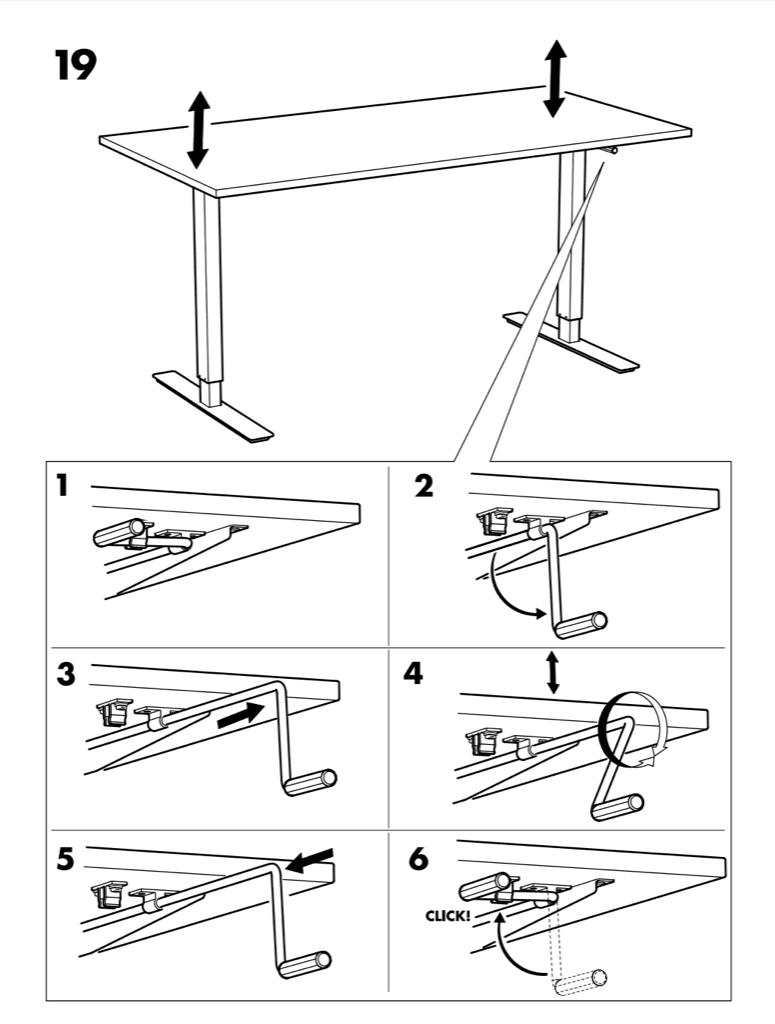SKARSTA crank handle