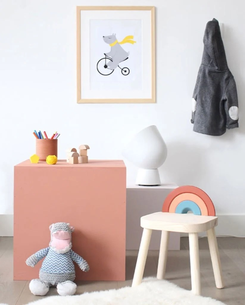 FLISAT children's stool - colorful kids stool
