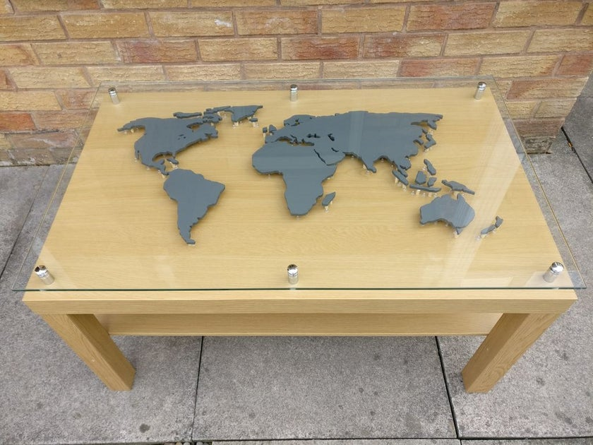 back lit world map for most popular