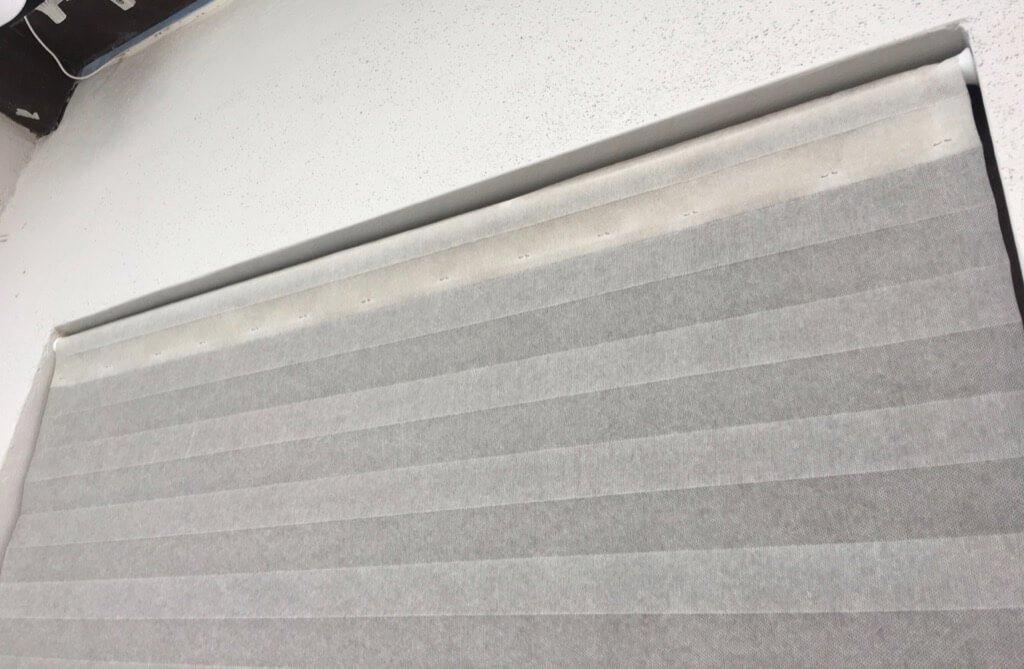 Schottis pleated shade alternative installation