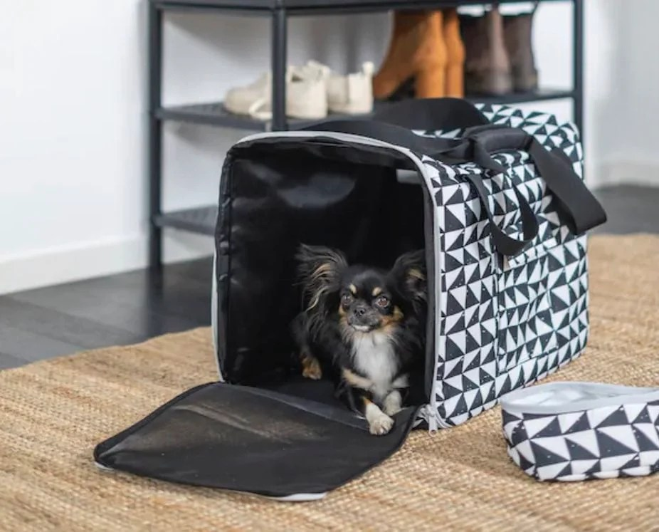 Lurvig pet travel bag and bowl