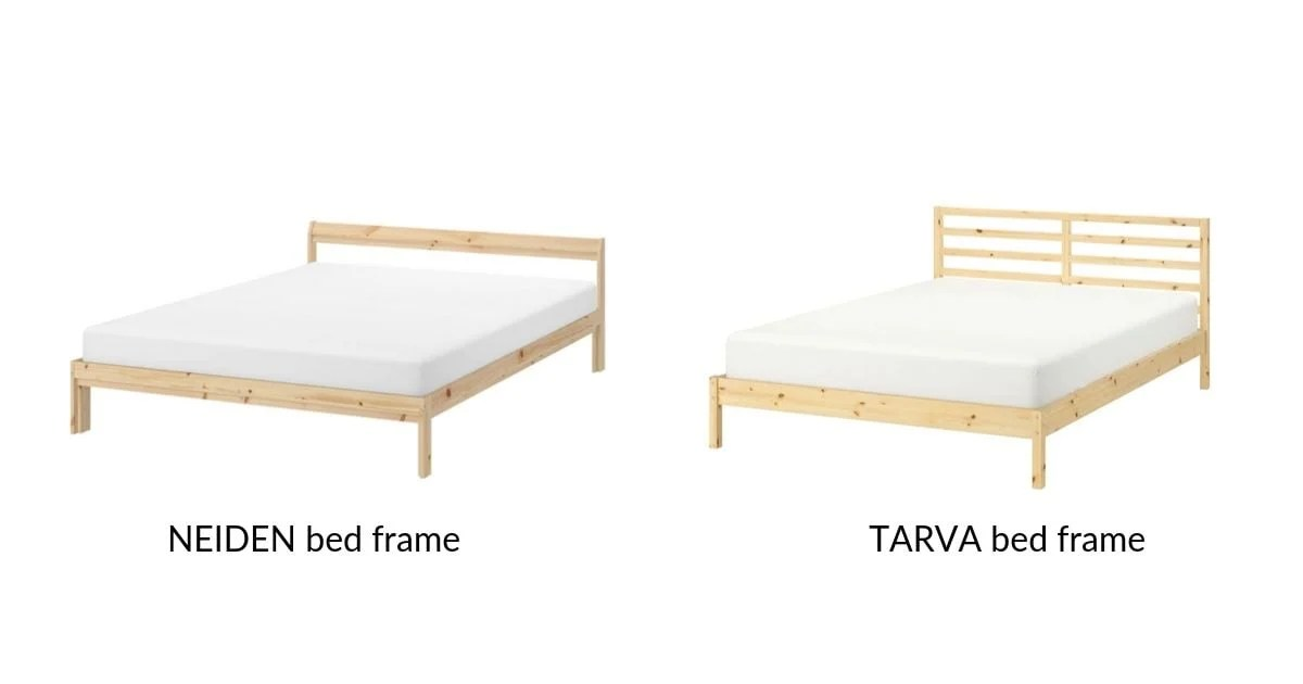 IKEA TARVA and NEIDEN bed