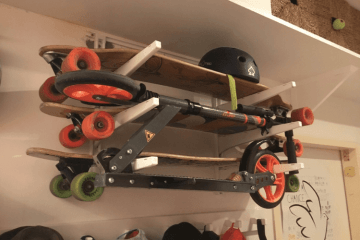 skateboard rack ikea hack