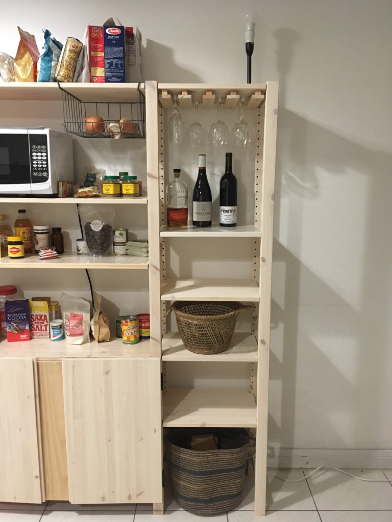 diy wooden wine glass rack to fit the