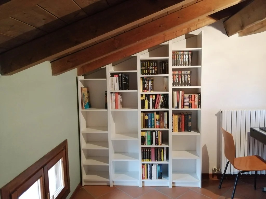 sloped ceiling bookcases