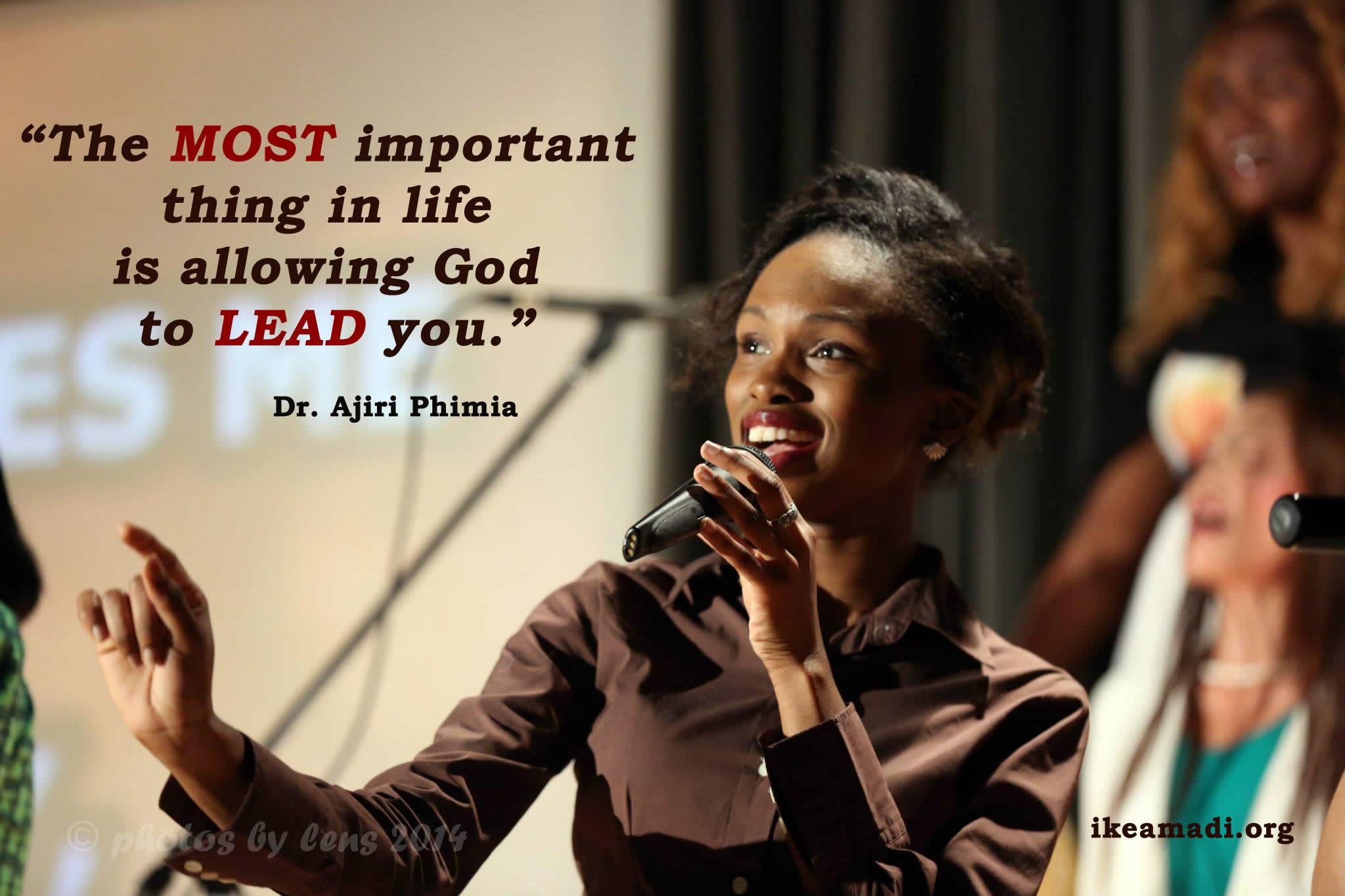 Allow God Lead You – Dr. Ajiri Phimia