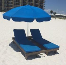 Beach Lounger Rental Set - Ike's Beach Service