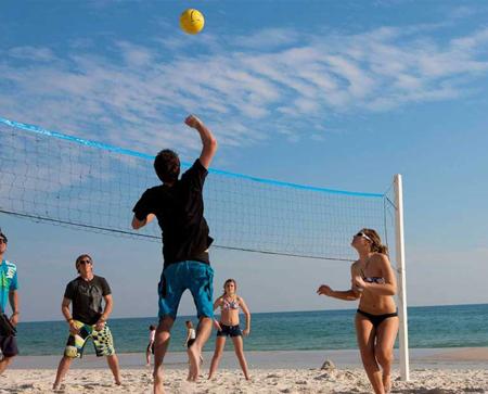 Beach Equipment - volleyball-net-rental-setup-Ikes-Beach-Service