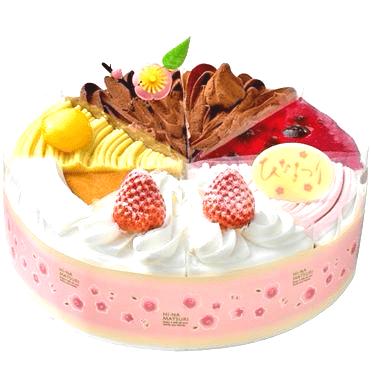 イオンひな祭りケーキセット