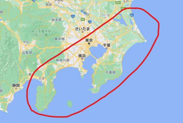 太平洋側の地図