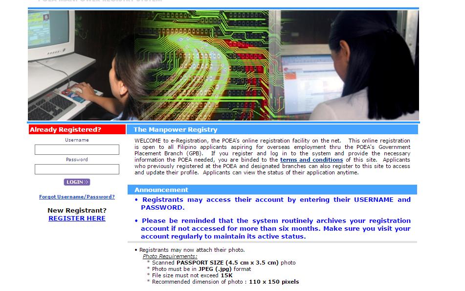 Paano magregister sa POEA Online Registration
