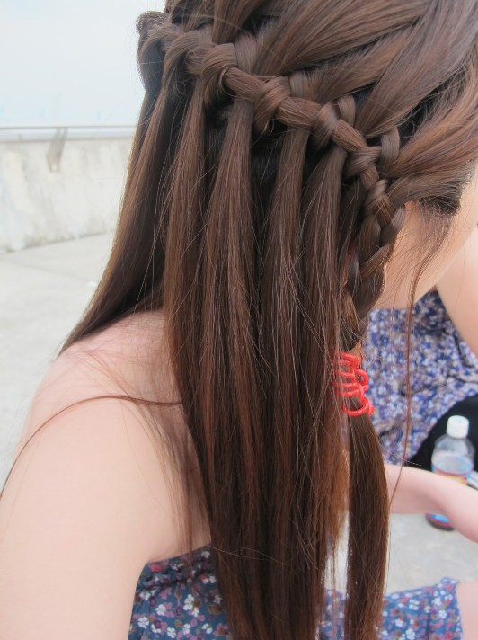 Cascade And Waterfall Hairstyles Gallery