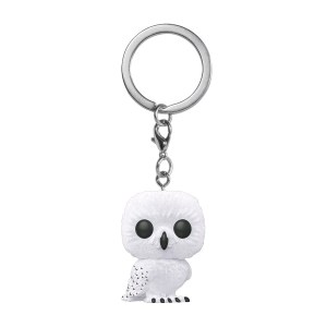 Harry Potter – Hedwig Flocked Pocket Pop! Keychain