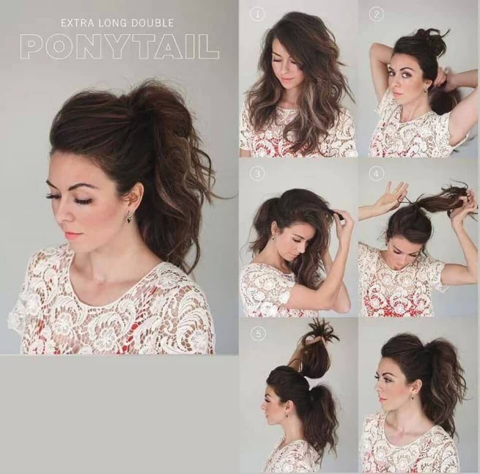 how to Extra Long Double Ponytail